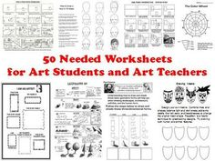 50 Needed Worksheets for Art Students and Art Teachers from The Art Teacher on TeachersNotebook.com -  (61 pages)  - This 61 page Word Document contains 50 much needed worksheets, tests, handouts, lists and more that every art teacher should have in their classroom.   After years of searching for just the right visuals to use, and after making countless hand-outs myself