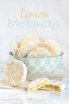 Biscotti al limone che si sciolgono in bocca ri cetta Lemon meltaways recipe