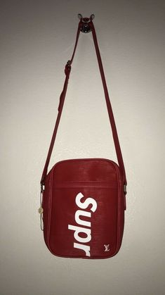 fc67fd68e696 LOUIS VUITTON x SUPREME DANUBE PPM PM MESSENGER BAG RED BACKPACK DS   fashion  clothing