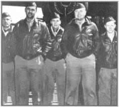 Doolittle Tokyo Raiders, Crew No. 5, (Plane 40-2283).  Left to right: Lt. Eugene F. McGurl (navigator), Capt. David M. Jones (pilot), Lt Denver V. Truelove (bombardier), Lt. Rodney R. Wilder (co-pilot), Sgt. Joseph W. Manske (engineer-gunner).