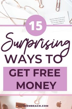 15 Unheard of ways on how to get free money today! Check out these 15 legitimate ways on how to get free money by freeing up cash or making your money work for you. #moneytips #freemoney #makemoremoney #buildwealth #moneymakinghacks Ways To Get Money, Quick Money, How To Get Money, Make Money From Home, Money Tips, Money Saving Tips, Free Money, Earn Extra Cash, Extra Money