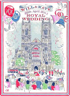 Cath Kidston Royal Wedding tea towel