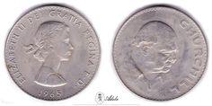 1965 #WinstonChurchill #COMMEMORATIVE #Crown, Elizabeth II #UnitedKingdom #Coins @Etsy http://etsy.me/1EvsGXP