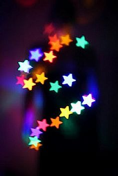 Beautiful Colors Of The Rainbow! Sun And Stars, Look At The Stars, Love Stars, Bright Stars, Bokeh Photography, Experimental Photography, Lucky Star, Twinkle Twinkle Little Star, Star Art