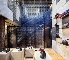 The Boys Are Back: David Adjaye Brings Proenza Schouler to SoHo | New oak flooring in the basement accessories salon matches the original flooring above. #design #interiordesign #interiordesignmagazine #retail