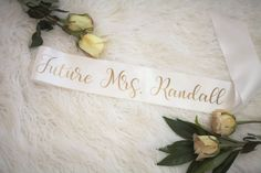 Bride sash Future MRS. sash Bachelorette sash by Figandvine