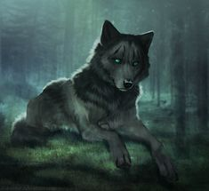 Wolf drawing by Zakraart and her digital art, drawing and wallpaper journey. Master of wolfs: Artist Zakraart. Her name is Susana. Pet Anime, Anime Animals, Fantasy Creatures, Mythical Creatures, Shadow Wolf, Wolf Artwork, Fantasy Wolf, Wolf Spirit Animal, Dire Wolf