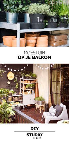 STUDIO by IKEA - Moestuin op je balkon   #STUDIObyIKEA #IKEA #IKEAnl #DIY #moestuin #buiten #balkon #tuin