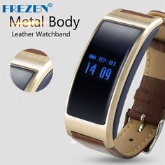 FREZEN K18 Smartband Heart Rate Bluetooth 4.0 Smart Bracelet Pedometer Sleep mode Leather Strap Or Silicone For IOS Android