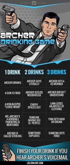 Archer Drinking Game#funny #lol #lolzonline