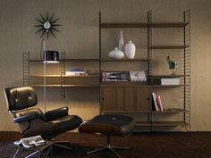 String Shelf System - Walnut & Black