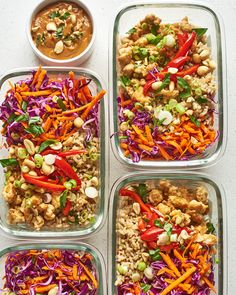 Lunch Meal Prep, Meal Prep Bowls, Easy Meal Prep, Healthy Meal Prep, Easy Meals, Easy Salads, Spicy Recipes, Lunch Recipes, Healthy Recipes