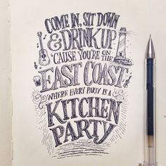 ain't no party like an east coast party. Rachel Hollis, Garage Party, Hand Lettering Quotes, Vintage Type, Vintage Signs, Bee Art, Waterproof Stickers, Graphic Design Typography, Sticker Paper
