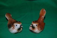 Vintage-Brown-Wren-Birds-Salt-and-Pepper-Shakers