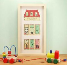 Personalised Framed Art Print – 'Town House'.