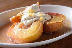 Roasted Peaches with Lime #foxlow #pudding #EC1 #clerkenwell