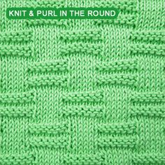 If you can knit and purl, you can work this stitch pattern. It involves purling the knits and knitting the purls on consecutive rounds.
