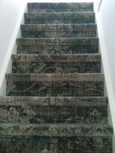 Trapbekleding vintage tapijt