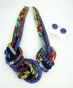 Beautiful African rope necklace https://www.etsy.com/listing/214966876/african-fabric-knot-rope-necklace-ankara