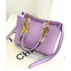 2014 new cross stria imitation leather coarse chain portable shoulder cross bag