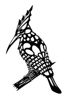 Black and white bird draw (tattoo plan)