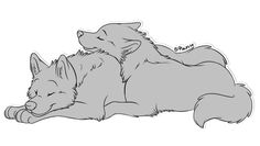 Illustration Sketches, Art Drawings Sketches, Cartoon Drawings, Anime Wolf Drawing, Furry Drawing, Cute Wolf Drawings, Cool Drawings, Animal Sketches, Animal Drawings