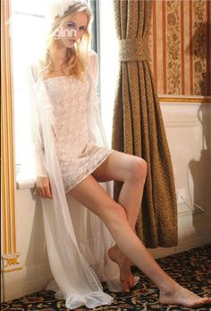 Elegant Ruffles White Straps 2 piece Homewear Lingerie Loungewear  #homewear #lace Live a better lfie start with @beddinginn