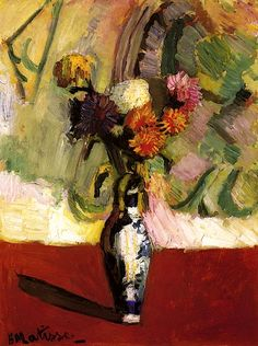 bofransson:  Chrysanthemums in a Chinese Vase Henri Matisse - 1902