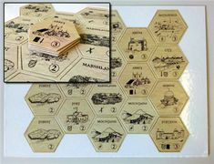 Printed custom game hexes