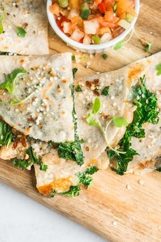 HEALTHY KALE AND WHITE BEAN QUESADILLA - Enjoy Clean Eating
