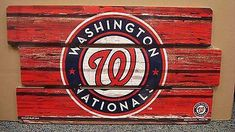 "WASHINGTON NATIONALS LOGO WOOD SIGN 14""X25'' BRAND NEW SHIPPING WINCRAFT"