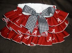 Ruffled Butt Alabama Roll Tide Diaper Cover by SeamsSewSpecial, $12.00