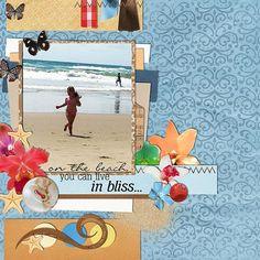 Kit: Beachcomber by Aimee Harrison Design Studios Template - Funky Templates by Miss Fish Templates Digital Scrapbooking Layouts, Scrapbook Templates, Fish Template, Harrison Design, Layout Design, Design Studios, Create, Kit, Store