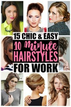 10 simple and easy hairstyles for work | Hair | Pinterest | Running ...