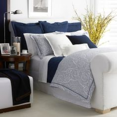 Navy Brentwood Collection - Ralph Lauren Home Bedding Collections - RalphLauren.com