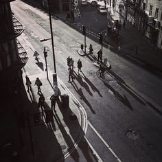 Long shadows outside the @3fld studios today