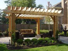 backyard landscapes + pavers | Pergolas | Western DuPage Landscaping - This would look beautiful in my backyard!! If only