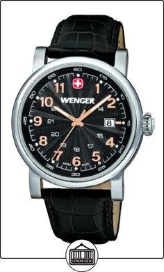 Wenger Urban Classic 01.1041.105 - Reloj analógico de cuarzo para hombre, correa de cuero, color negro (agujas luminiscentes) de  ✿ Relojes para hombre - (Gama media/alta) ✿