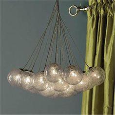 Spun-Glass Spheres Chandelier - 15 light