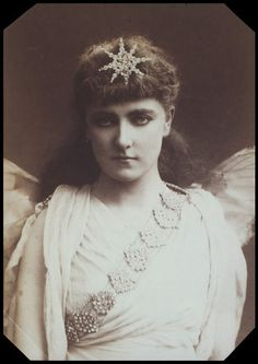 """Cabinet photograph of May Fortescue as Celia in the original DOC production of """"Iolanthe"""" in 1882."""