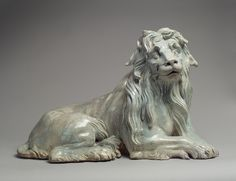 After a model attributed to Johann Gottlieb Kirchner (German, ca. 1706-1737). Lion, ca. 1732. German, Meissen. The Metropolitan Museum of Art, New York. Wrightsman Fund, 1988 (1988.294.1) | This lion belonged to a menagerie of large-scale porcelain animals ordered for Augustus II's Japanese Palace in Dresden, which was one of the most ambitious ceramic undertakings of the eighteenth century.  #OneMetManyWorlds