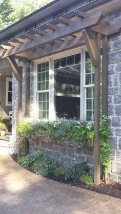 Patio Pergola, Pergola Shade, Backyard Patio, Front Porch Pergola, Wedding Arbor Rustic, Outdoor Living, Outdoor Decor, Rustic Outdoor, Front Yard Landscaping
