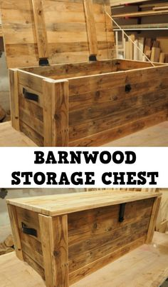 Build a storage chest from reclaimed wood | DIY Montreal