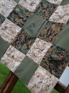 Custom Military uniform memory quilt by Abuandlace on Etsy Custom Military uniform memory quilt by Abuandlace on Etsy Source by calicotam. Military Retirement, Military Mom, Army Mom, Military Signs, Marines Uniform, Marines Girlfriend, Military Uniforms, Military Girlfriend, Boyfriend