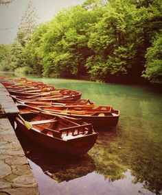 Everywhere you look, Plitvice lakes is a postcard waiting to happen. #boats #beautiful