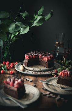 Grain-free Chocolate Raspberry Cake photography Grain-free Chocolate Raspberry Cake - The Kitchen McCabe Dark Food Photography, Cake Photography, Fall Desserts, Gluten Free Desserts, Chocolate Raspberry Cake, Cake Chocolate, Chocolate Deserts, Chocolate Lovers, Chocolate Recipes