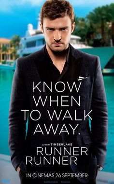 Runner Runner , starring Ben Affleck, Justin Timberlake, Gemma Arterton, Anthony Mackie. When a poor college student who cracks an online poker game goes bust, he arranges a face-to-face with the man he thinks cheated him, a sly offshore entrepreneur. #Crime #Drama #Thriller
