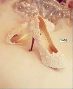 lace wedding heels
