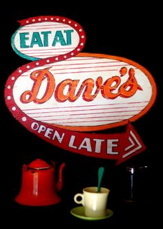 Double Bubble Diner Sign Free Shipping by BareRootStudio on Etsy
