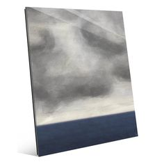 Click Wall Art 'Cloudy Sky Over Blue Ocean' Painting Print Size: